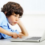 Boy with Laptop (original)